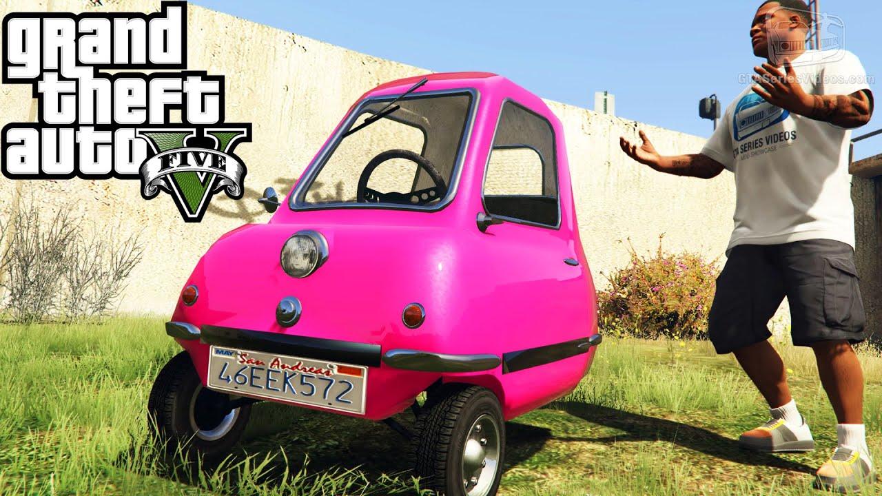 Gta  Funny Vehicles  Peel P Doraemon Time Machine Lego Car And More Mod Showcase Youtube