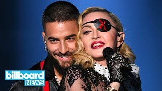 Madonna & Maluma Television Debut Of 'medellin' At 2019 Bbmas  Billboard News