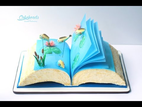 Fish, Cattails & Water Lily Tutorial (For cake decoration)