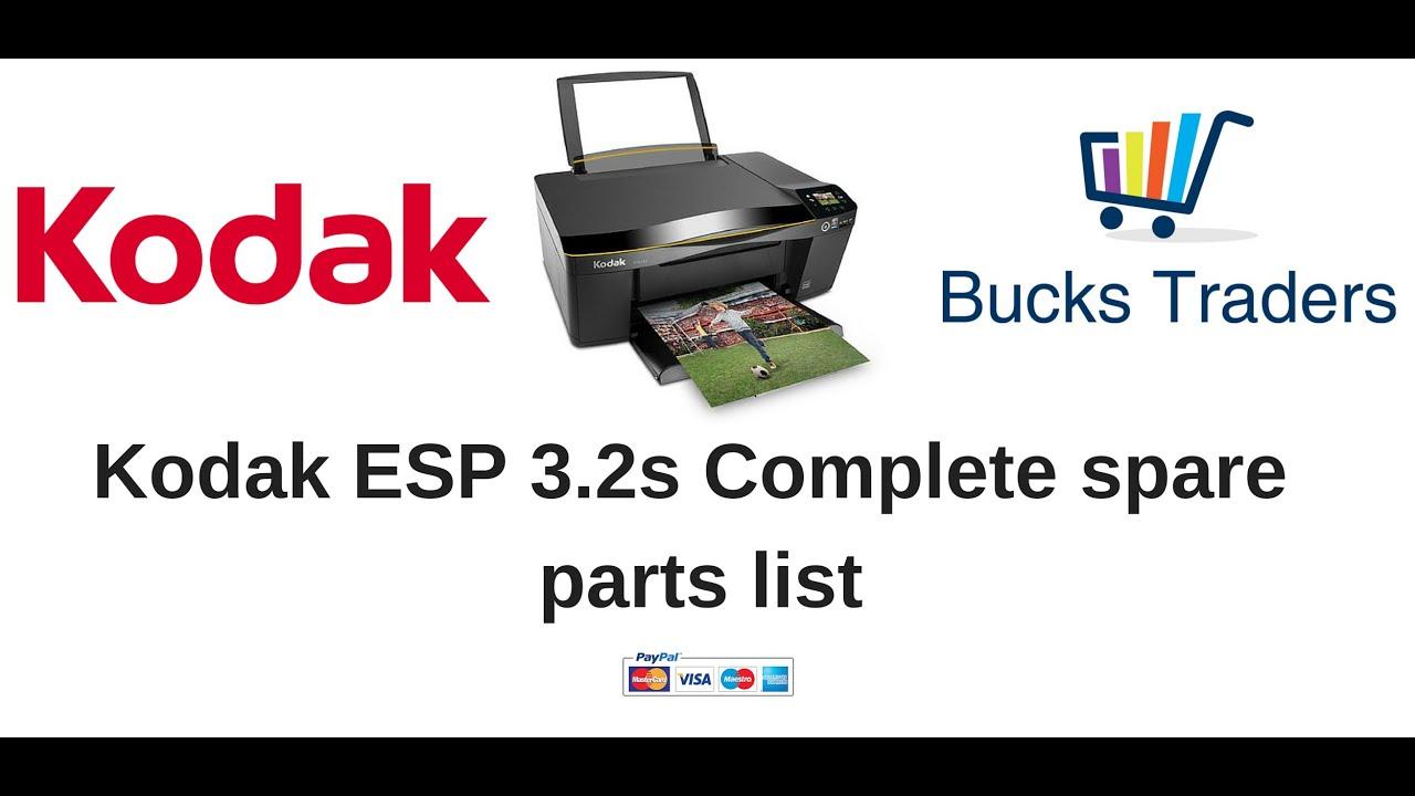Genuine OEM Kodak ESP 3 2s All-in-One Printer Parts- Bucks Traders