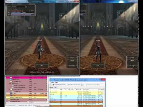 Dual Session in Lineage 2 High Five (hack): Programs needed: Process Hacker 2 http://processhacker.sourceforge.net/  Server that are in video: l2 Hion (its High Five server, but the bug also work on other cronicles) http://www.lineage2hion.com/  Good cheating forum: http://tophope.ru/  It allows you to hack items in l2, like get twice by 1 time of adena/apiga/gold bars/ donation coins and all the other stuff.  So in 30 mins, from 5 items you can have billions of it.  You need at least 3 items to start doing it.  Its what normally people tell the Duplicate items in l2