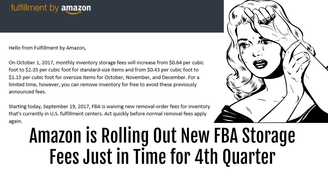 Is Rolling Out New Fba Storage Fees Just In Time For 4th Quarter