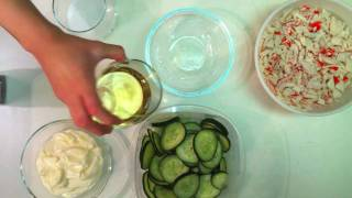 Fresh Japanese Cucumber Crab Side Salad Recipe