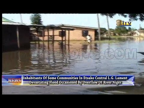 Overflow Of River Niger Takes Over Some Communities In Etsako Central L.G.
