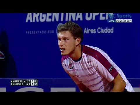 ATP BUENOS AIRES 2017 - GIANNESSI VS CARREÑO BUSTA - 3er. Set