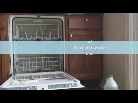 Cleaning a Dishwasher with Vinegar & Baking Soda