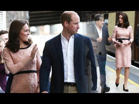 Kate Middleton displays blossoming bump in BABY pink floral dress - is it a clue?