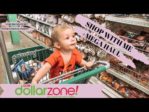 ONE DOLLAR ZONE MEGA HAUL//SHOP WITH ME //DOLLAR STORE//INTERNATIONAL FOOD