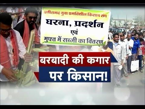 Free Vegetable Distribution By Farmers In Raipur !! Aap Ki Baat