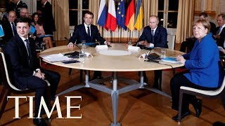 Russia President Putin And Ukraine President Zelensky Sit Down For Peace Talks For First Time | TIME
