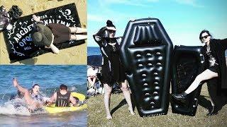 Goths at the Beach! 🖤   Toxic Tears Vlog