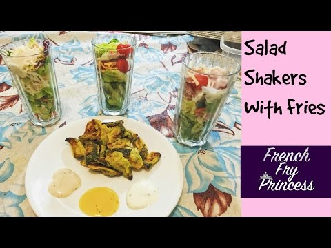 3 Salad Shakers With Fries