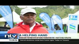 Standard Chartered Bank partners with Kip Keino Foundation to offer relief to athletes