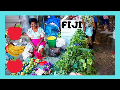 FIJI, the spectacular MARKETS of its capital SUVA (Pacific Ocean)