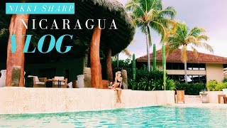 WHAT I DID IN NICARAGUA VLOG | what I ate, surfing, visiting the best beach | Nikki Sharp