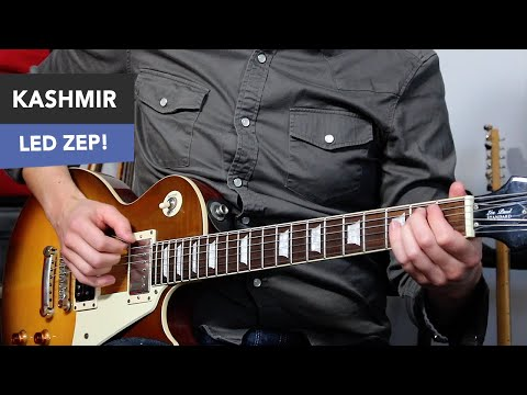 how to play led zeppelin - kashmir guitar lesson (easy + dadgad tuning)