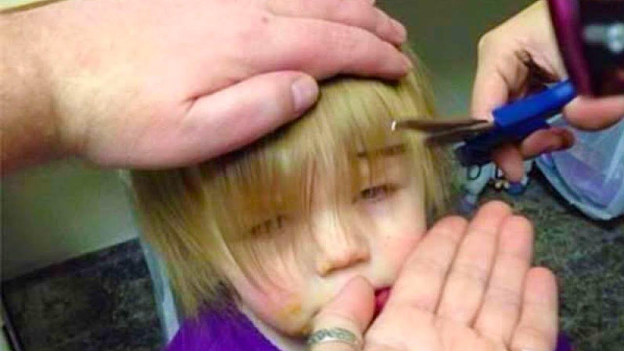 أندهش الجميع عندما راوا ما فعل هذا الاب في شعر أبنته