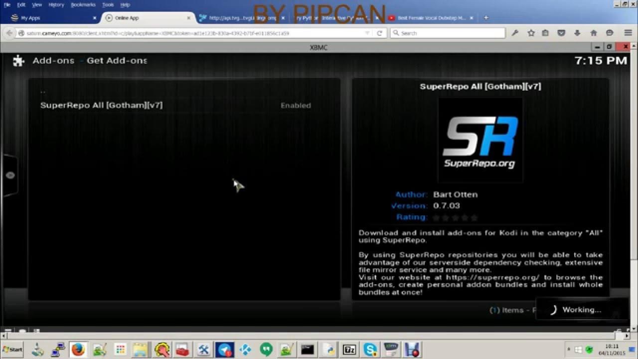 Kodi Web Browser