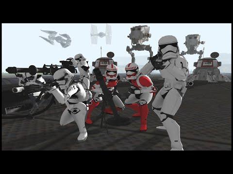 First Order Army SUPER FORTRESS Siege - Men Of War: Star Wars Mod Battle Simulator
