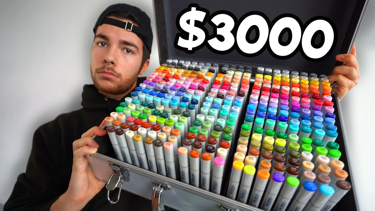 I Bought The World's Most Expensive Markers 👏👏 [MARKER REVIEW #7]