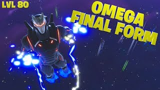 Fortnite Omega Skin Gameplay - Fully Upgraded All Challenges Complete - level 80 Tier 100 Armour Max