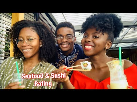 SEAFOOD AND SUSHI MUKBANG || Cape Town Fish Market || Youtuber Angolanos
