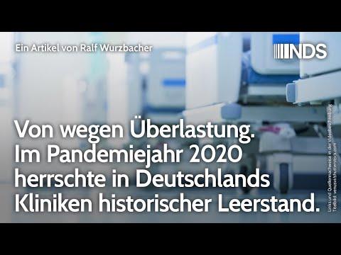 Von wegen Überlastung Im Pandemiejahr 2020 herrschte in Deutschlands Kliniken historischer Leerstand