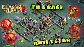 best clash of clan master builder th5 base|Bh5 base anti 3 star base with live attacks|HTNR - series
