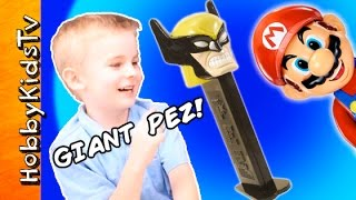 Huge Wolverine Pez Candy + Huge Super Mario Battle! HobbyKidsTV