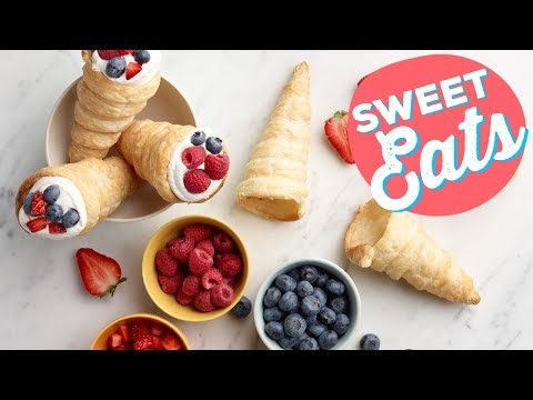 How To Make Puff Pastry Cones | Food Network
