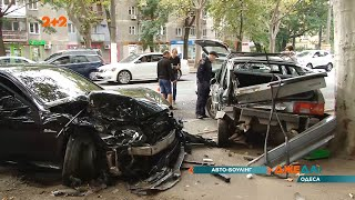 У Одесі «Мерс» забив 5 авто – свідки кажуть, що водій перевищив швидкість