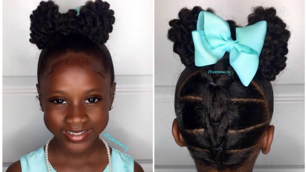 Textured Bow Updo Kids Natural Hairstyle Iamawog Youtube