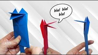 Весела мовець іграшка з паперу