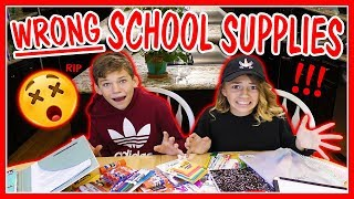 WE GOT ALL THE WRONG SCHOOL SUPPLIES! | We Are The Davises