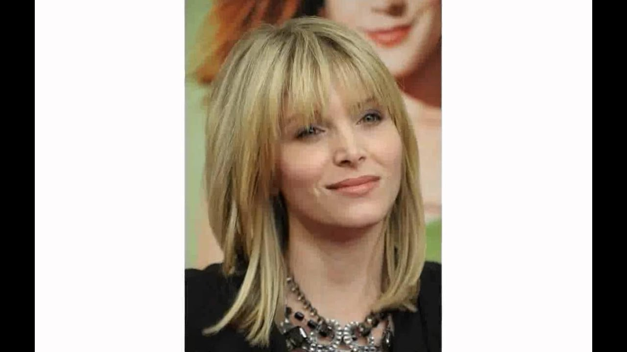short hairstyles with bangs for older women - youtube