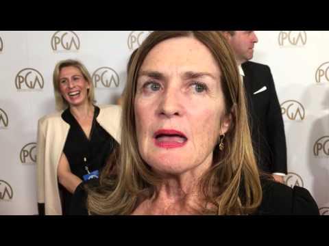 "Finola Dwyer (""Brooklyn' Oscar nominee) on Producers Guild Awards red carpet"