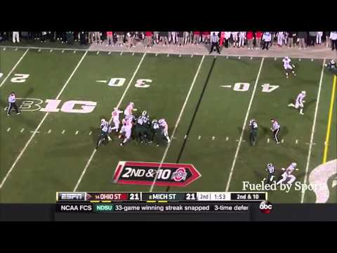 J.T. Barrett vs Michigan State (2014)