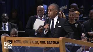 WATCH: Rev. Al Sharpton pays tribute to Aretha Franklin during her 'Celebration of Life' ceremony