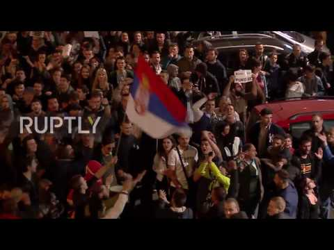 Serbia: Protests against Vucic's election victory go into second day