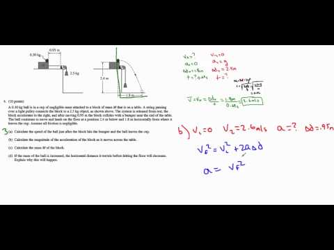 AP Physics B - 2013 #4 (Energy and Momentum)
