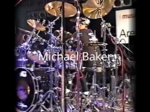 Michael Baker USA Drummer with Jerry Watts (Bass) in EUROPE