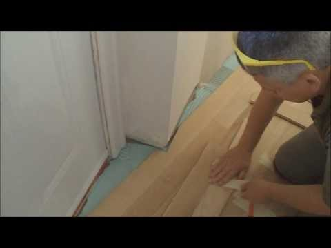 How To install Glue Down Hardwood Floors over Concrete in an Uneven Shaped Room Mryoucandoityourself