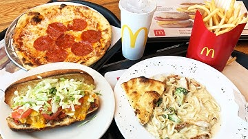 The World's Largest McDonald's 🍟 PIZZA, LINGUINI & PHILLY CHEESESTEAK