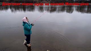 Научил на свою голову Девушка обловила Вихрова Как поймать щуку на джиг на нижней Москве реке