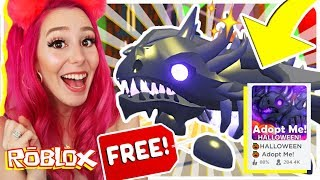 How To Get A FREE Shadow Dragon In Adopt Me.. Roblox Adopt Me NEW Halloween Update