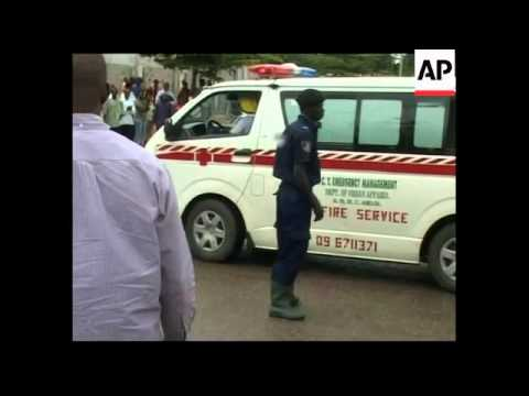 WRAP AP EXCLUSIVE Immediate aftermath of blast at UN office
