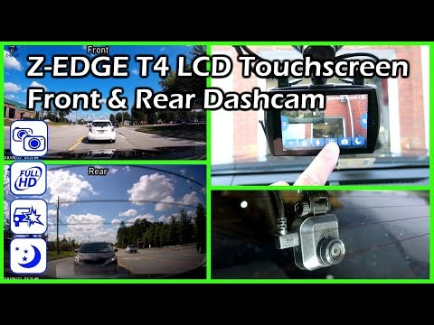 Z-Edge T4 Touchscreen LCD Front & Rear Dashcam Install and Review