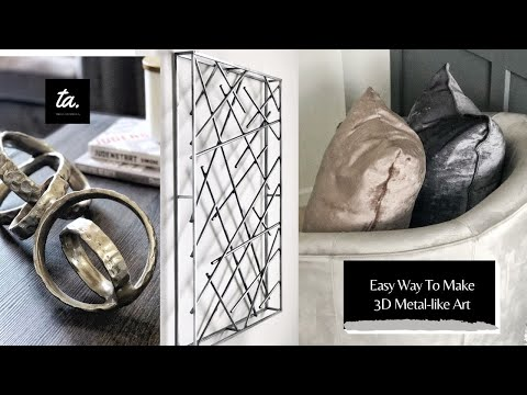How To Easily Make Inexpensive 3D Metal Like Wall Art Using These Steps
