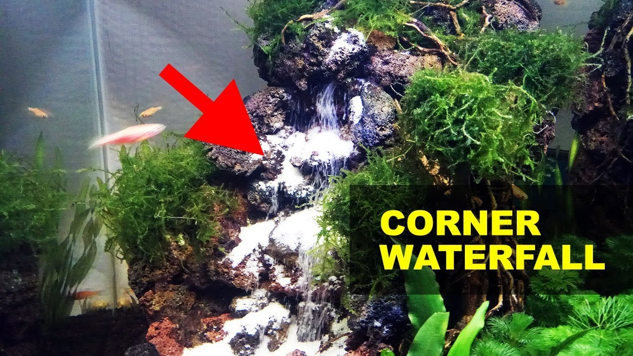 Setting Up Underwater Waterfall Aquascape Decoration - YouTube