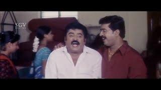 Kannada Comedy Videos : Jaggesh got fridge  in lottery comedy scene | Mohan | Dudde Doddappa Movie